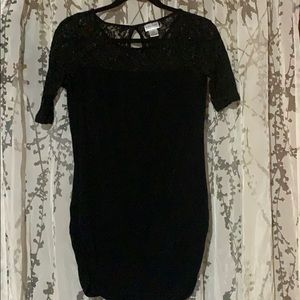 Black with lace maternity shirt